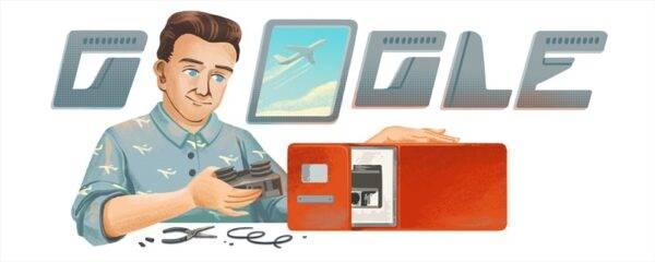 Google Doodle ngày 20.3 kỷ niệm 96 năm ngày sinh của David Warren. Ảnh Google.