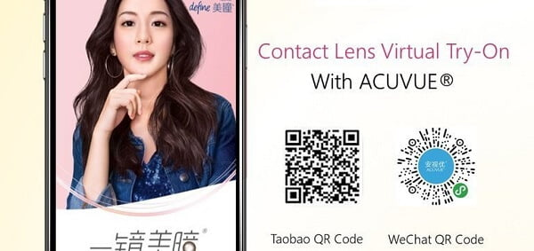 Johnson & Johnson tung trải nghiệm AR cho dong sản phẩm kính áp tròng Acuvue tại Trung Quốc