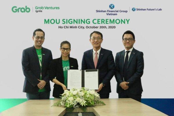 Shinhan đã ký biên bản ghi nhớ (MOU) với Grab Việt Nam để cùng phát triển các dịch vụ tài chính kỹ thuật số mới