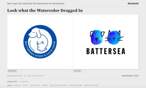 Ý tưởng thiết kế logo từ Brand New bởi UnderConsideration