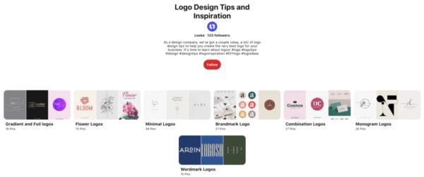Ý tưởng thiết kế logo từ Pinterest