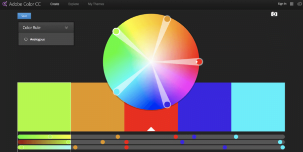 Ý tưởng thiết kế logo từ Adobe Color CC