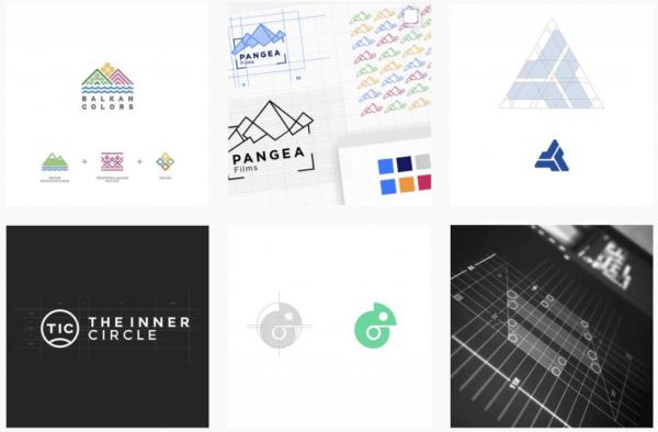 Ý tưởng thiết kế logo từ @learnlogodesign