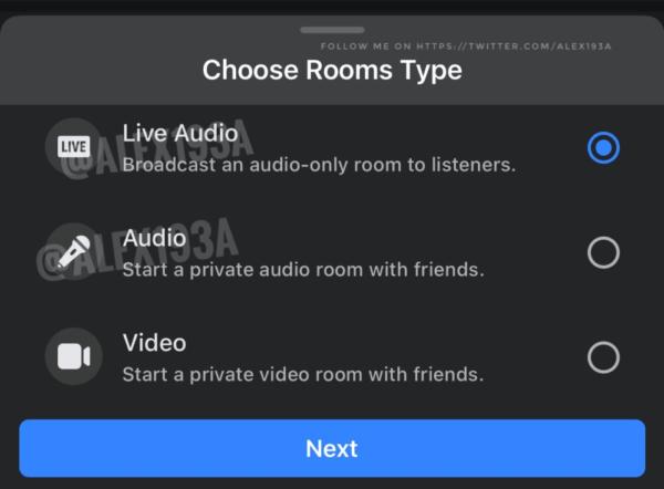 Facebook đang hướng tới phòng âm thanh như của clubhouse
