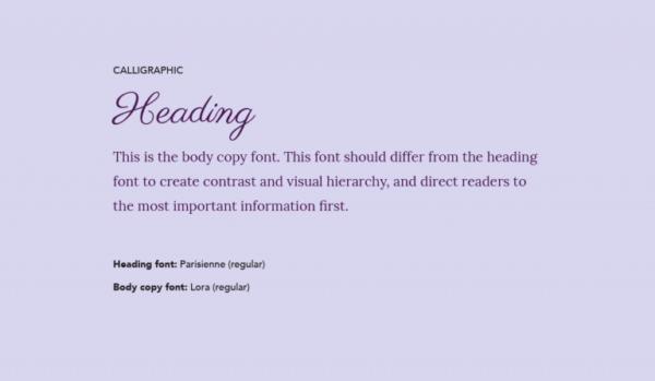 Cặp chữ #8: Tiêu đề dùng font thư pháp + Nội dung dùng font có chân | Ảnh 1