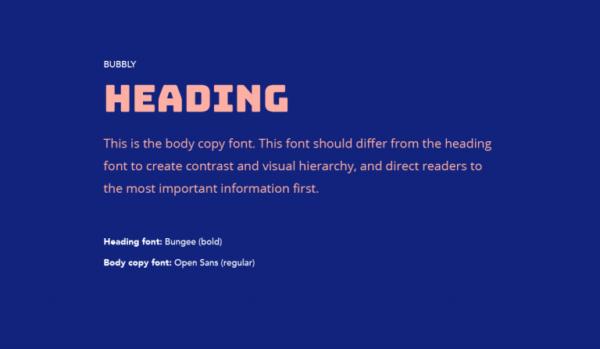 Cặp chữ #9: Tiêu đề dùng font chữ bong bóng + Nội dung dùng chữ không chân | Ảnh 1