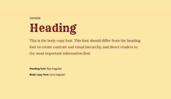 Cặp chữ #3: Tiêu đề dùng font chữ cổ + Nội dung dùng font serif | Ảnh 1