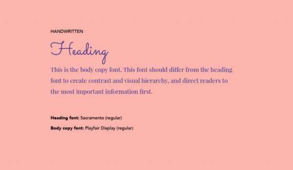 Cặp chữ #4: Tiêu đề sử dụng font chữ viết tay + Nội dung dùng font sans-serif | Ảnh 1