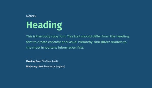 Cặp chữ #5: Tiêu đề dùng font chữ hiện đại + Nội dung dùng font sans-serif | Ảnh 1