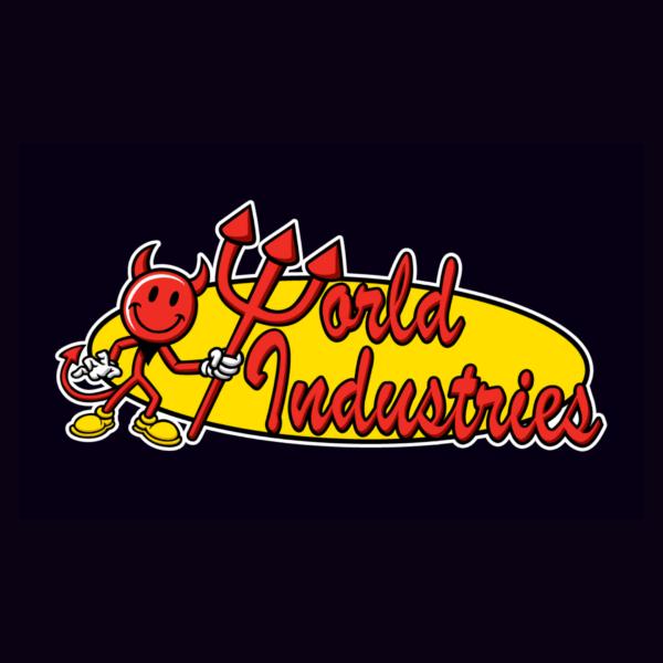 Logo vui nhộn 'World Industries'