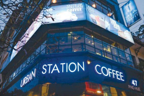 Urban Station nổi bật và là điểm đến yêu thích của nhiều người đam mê cà phê
