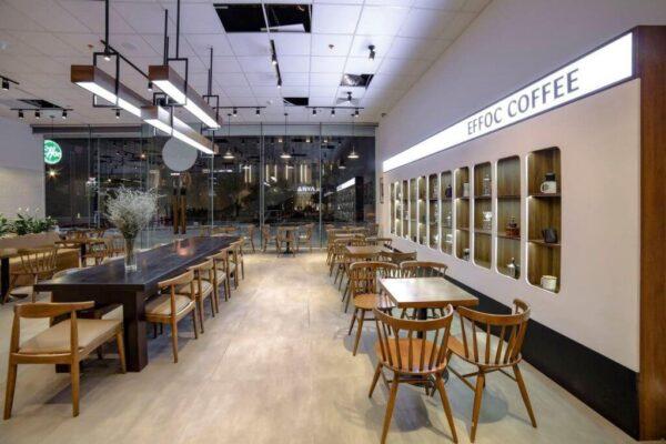 Một góc không gian tại Effoc Coffee cơ sở FLC Sea Tower, Quy Nhơn
