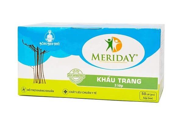 Khẩu trang y tế Meriday Bông Bạch Tuyết