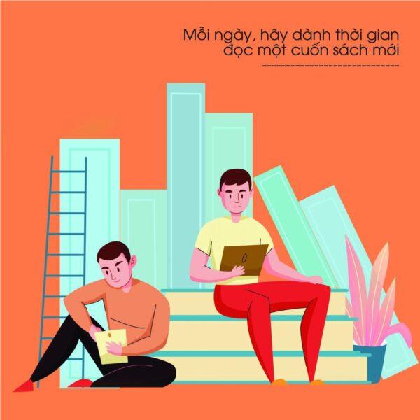 Mỗi ngày, hãy dành thời gian đọc một cuốn sách mới
